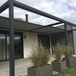 Pergola De Terrasse Self Supporting Pergola Aluminum Fabric Sliding Canopy