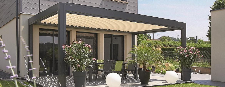 Terrasse bois avec pergola veranda styledevie