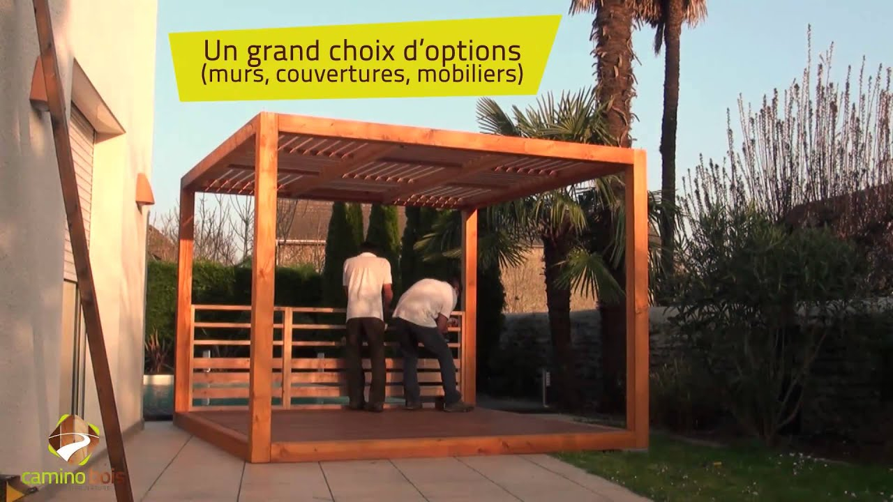 Terrasse pergola en kit à Pau Camino Bois propose le