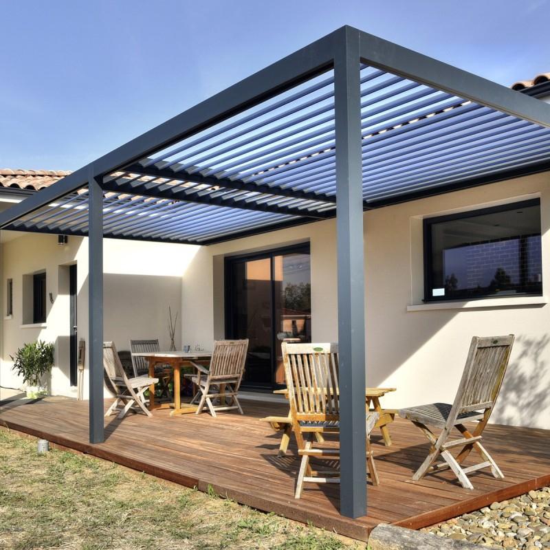 Pergola aluminium protection solaire avec lames