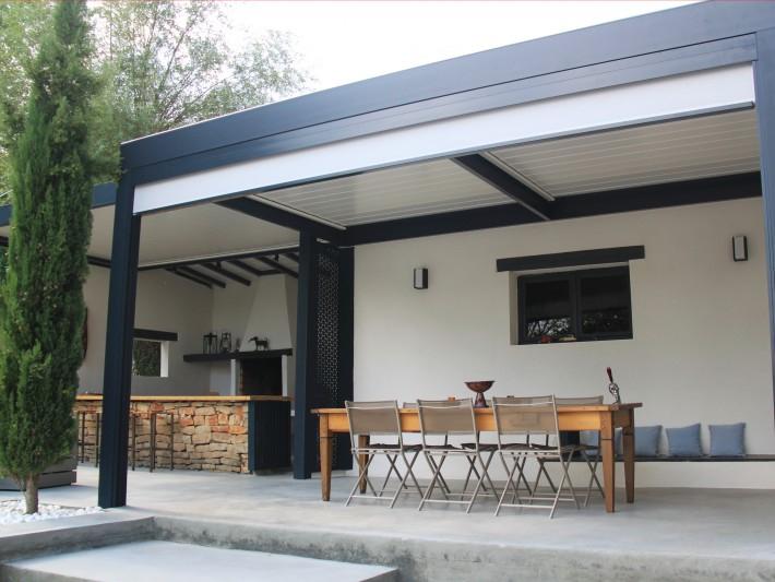 Pergola Bioclimatique et terrasse terrasse extérieure