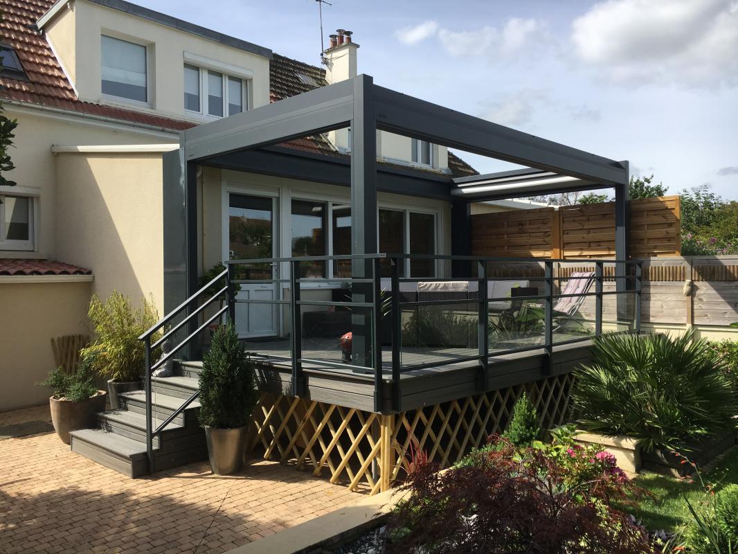 Pergola Sur Terrasse Terrasse Logikinov Fenêtres Portes Et Pergolas à Caen