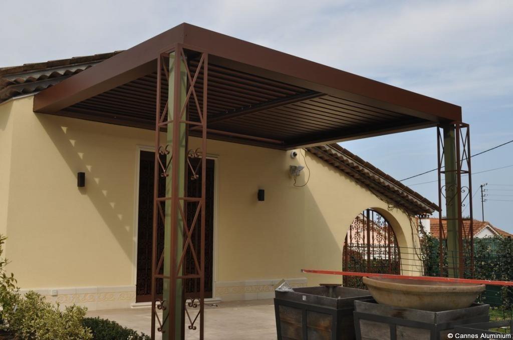 pergola toit plat