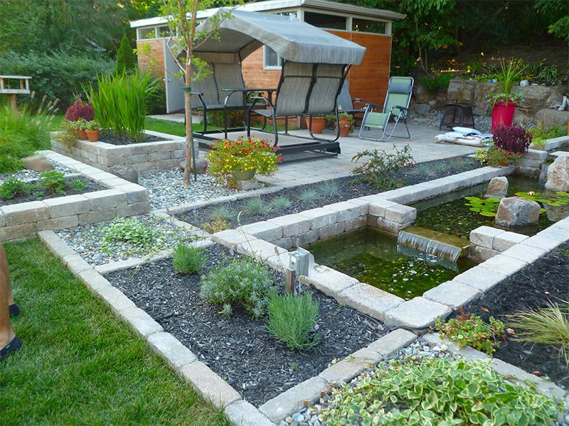 Jardin contemporain et minimaliste