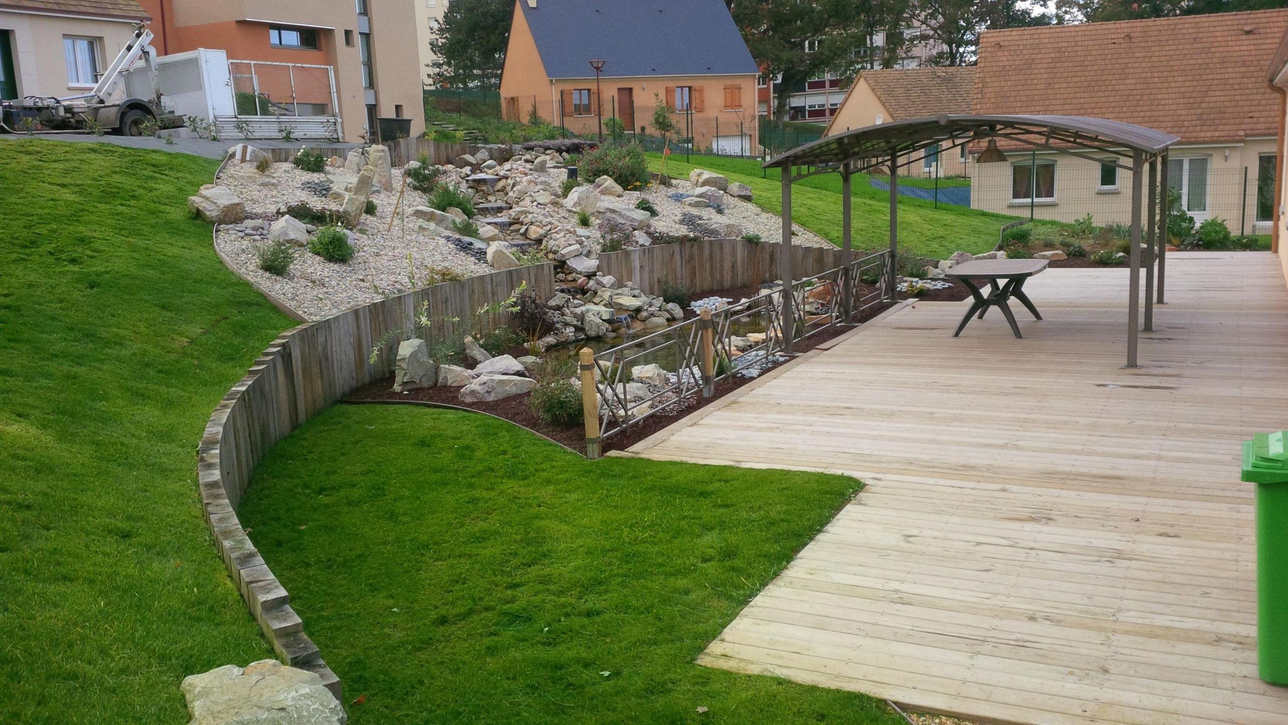Jardin en pente Aménagement paysager butte