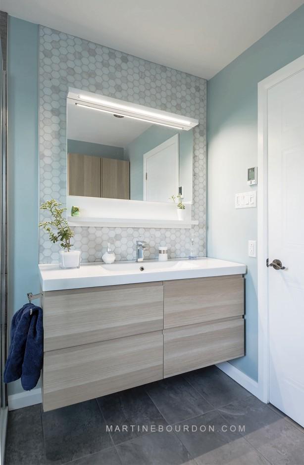 Espace optimisée pour une salle de bain