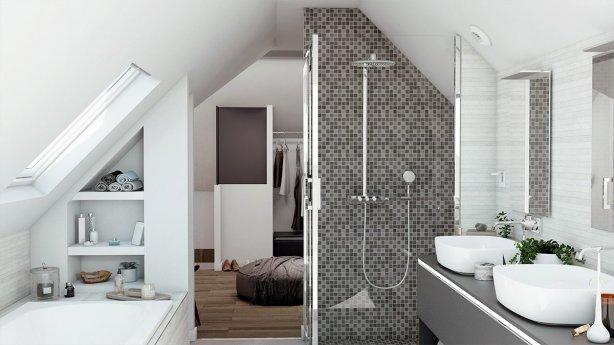 Salle de bain design & familiale s Plan et conseils