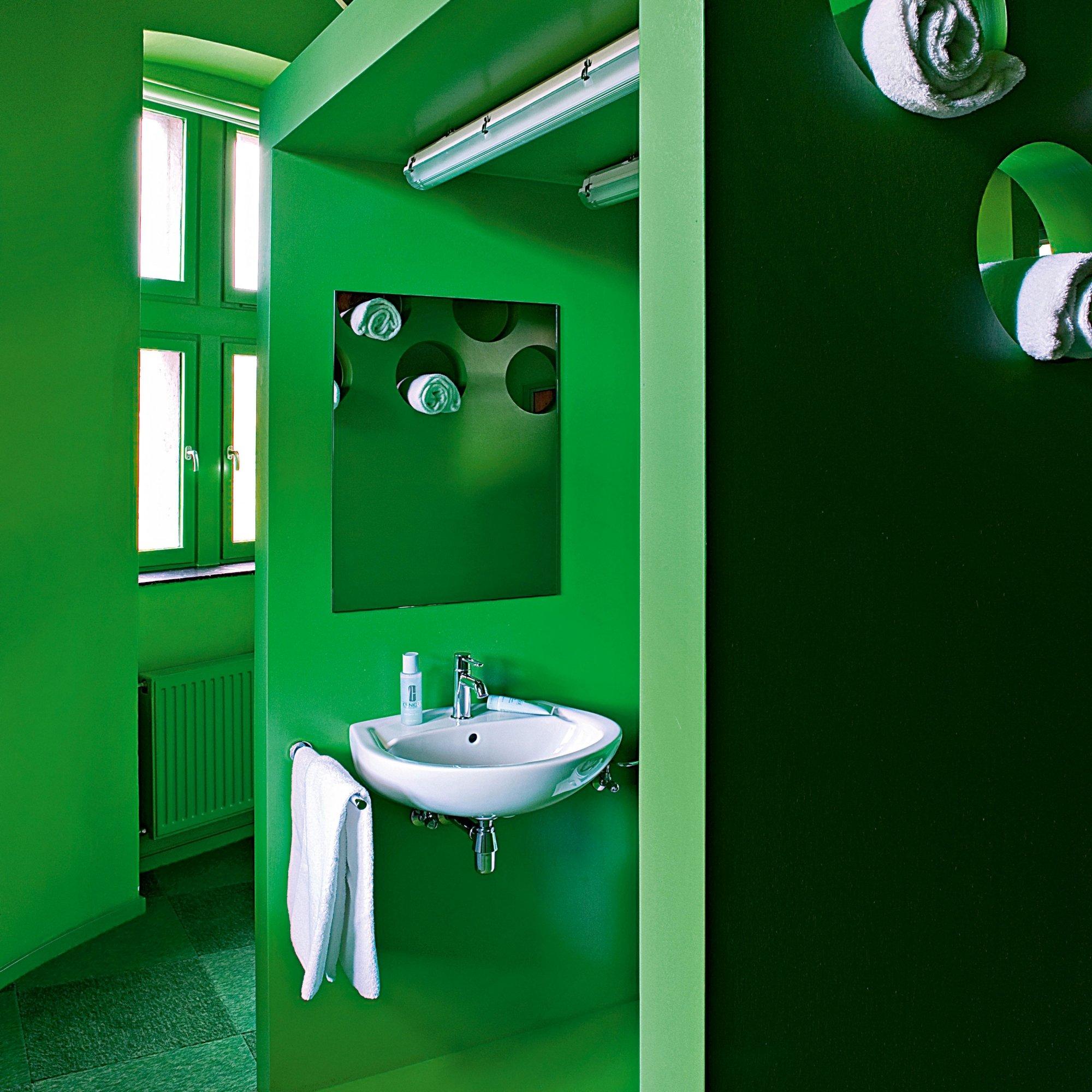 Photo De Salle De Bain Salle De Bains Verte Nos Inspirations Marie Claire