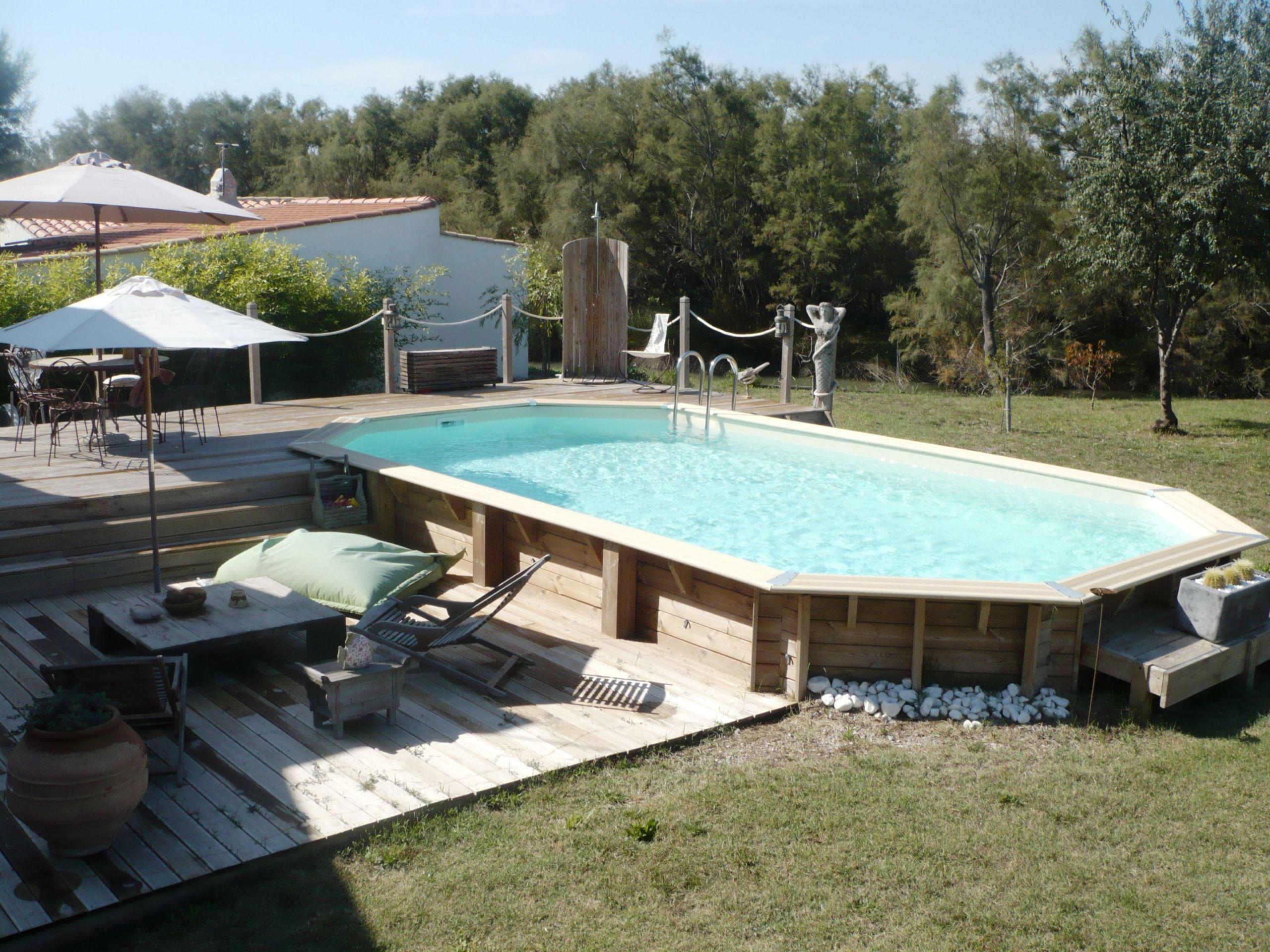 Piscine Bois Avec Terrasse piscine avec terrasse bois piscine hors sol en bois semi