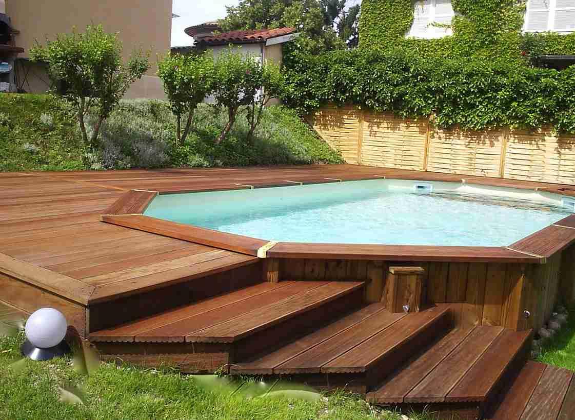 Piscine Bois Avec Terrasse piscine bois avec terrasse charmant piscine semi enterree