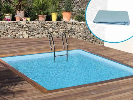 Liner pour piscine bois carrée