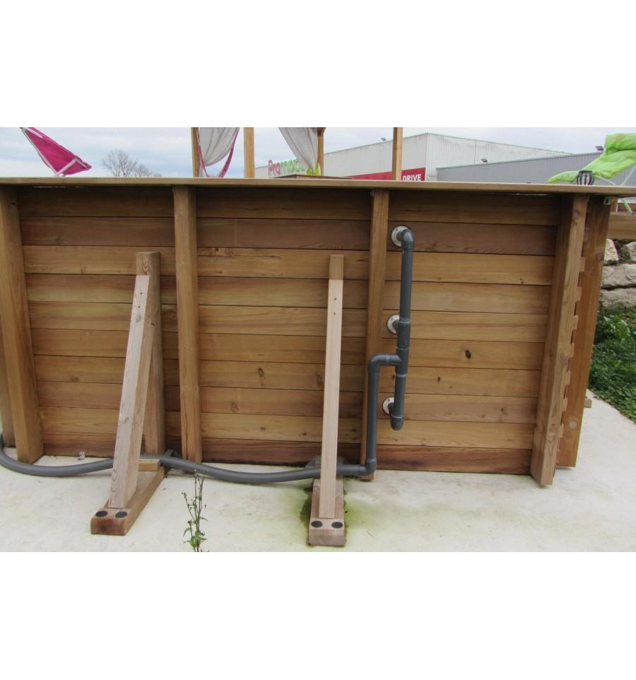 Piscine Hors Sol MAEVA 300 en bois carrée finition haute