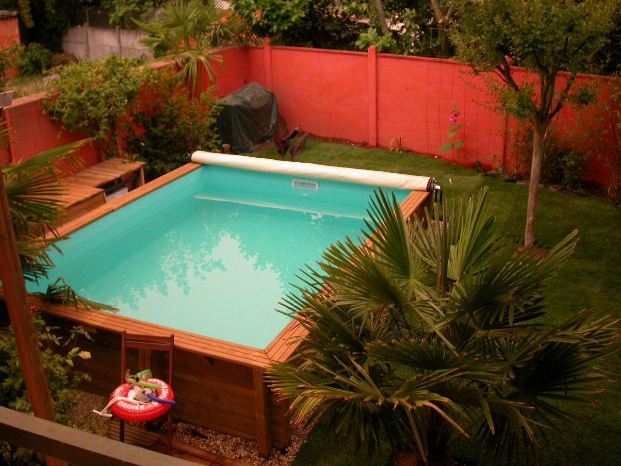 Vente de mini piscine en bois carrée en kit Difloisirs