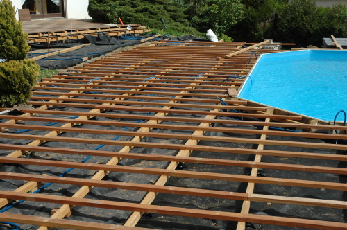 Kinderzimmers R alisations Terrasse en ip et piscine bois