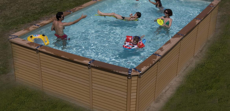 La piscine hors sol en bois posite tendance et durable