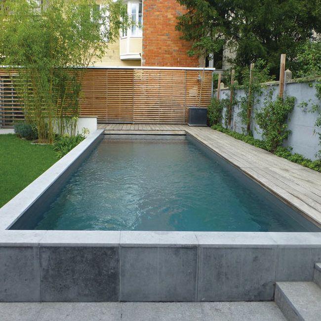 promis entre la piscine creusée classique et la piscine