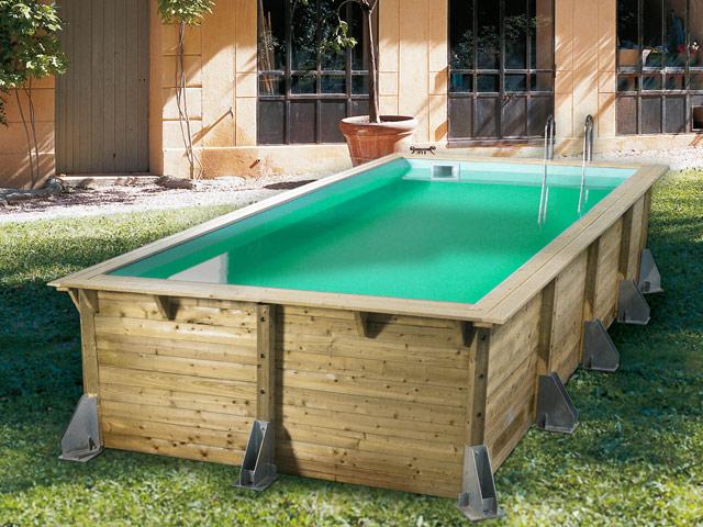 Kit piscine bois Nortland Ubbink AZURA rectangulaire 350 x