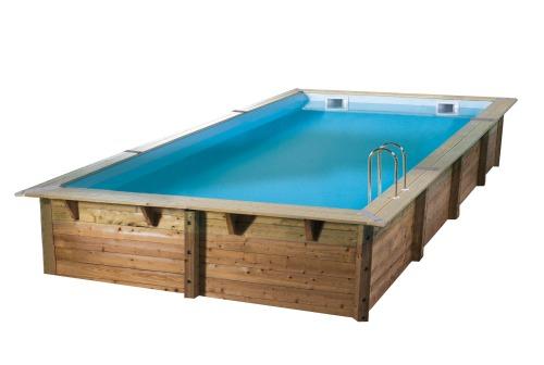 Piscine bois rectangulaire large choix de dimensions