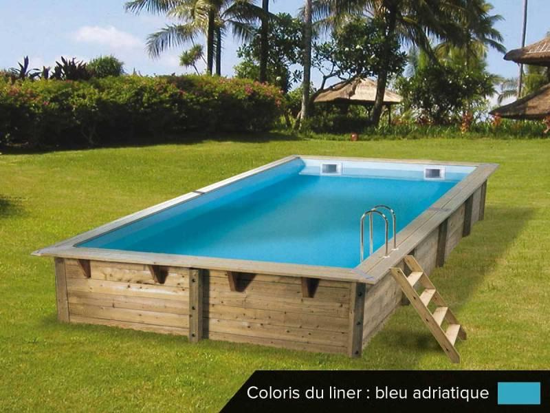 Piscine bois rectangulaire Linéa 6 5 x 3 5 m Ubbink