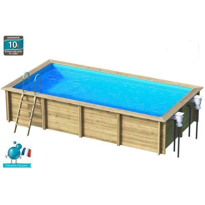 WEVA Piscine bois rectangle 6x3 m Hauteur 1 33 m Achat