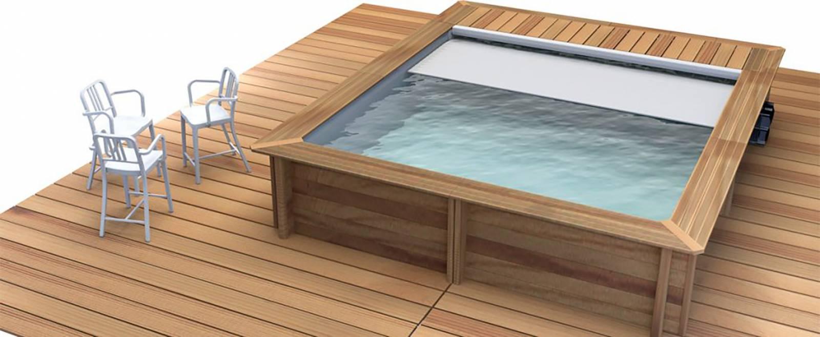 Acheter en ligne une piscine hors sol en bois pas cher