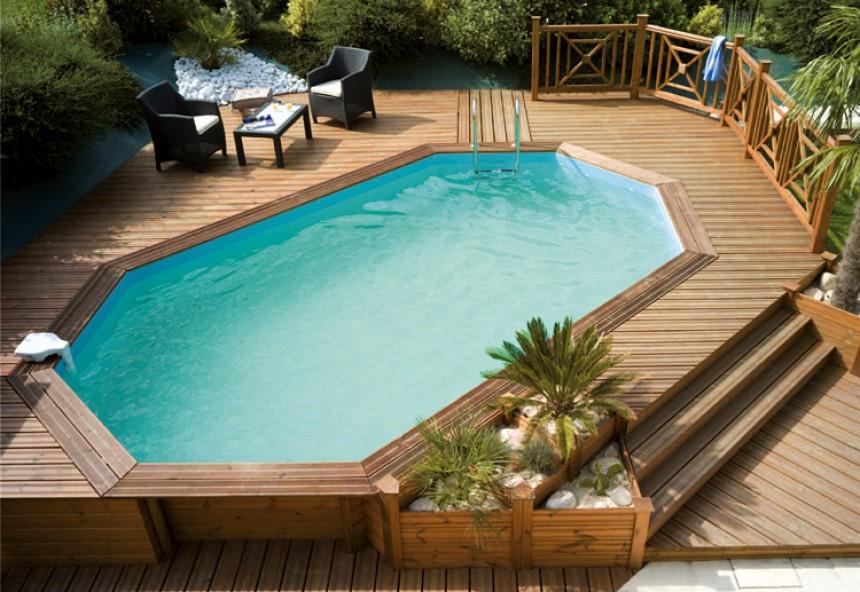 amenagement piscine bois enterree