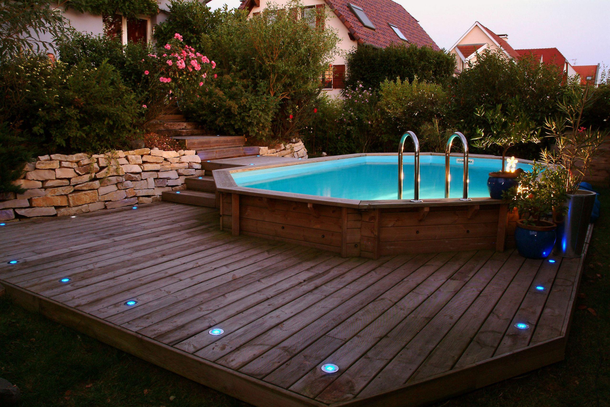 piscine semi enterrée hors sol
