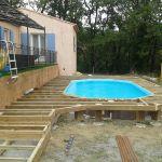 Piscine Hors sol Terrasse Terrasse En Bois Autour D Une Piscine Hors sol Posite