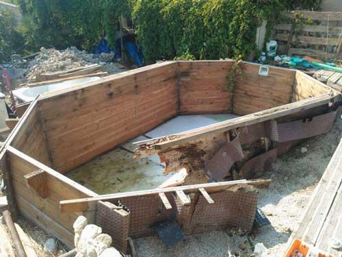 Piscine semi enterr e bois prix piscine semi enterr e bois - Hivernage piscine bois semi enterree ...