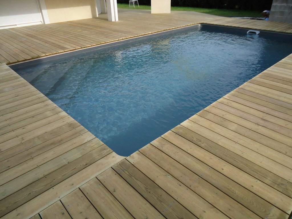 DECK 40 Tour de piscine Terrasse de piscine en bois Landes