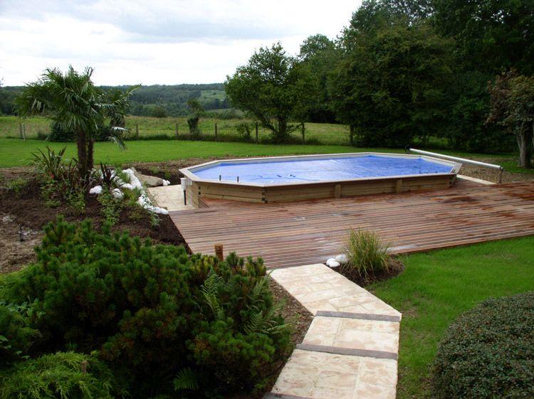 piscine sur terrain en pente