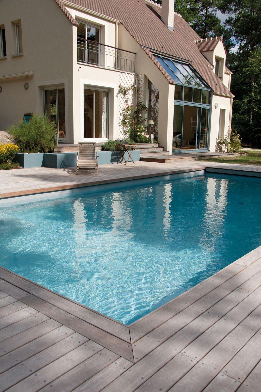 Terrasse bois autour d une piscine Terrasse