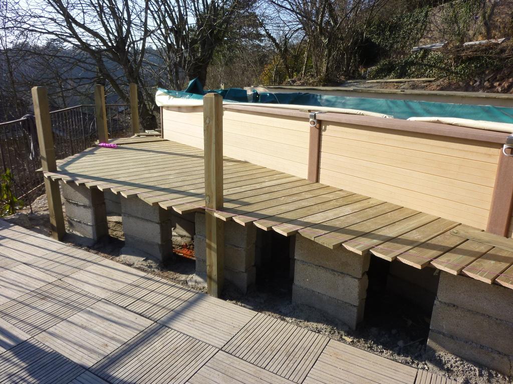 Terrasse bois plage de piscine bois posite Nature et Sens