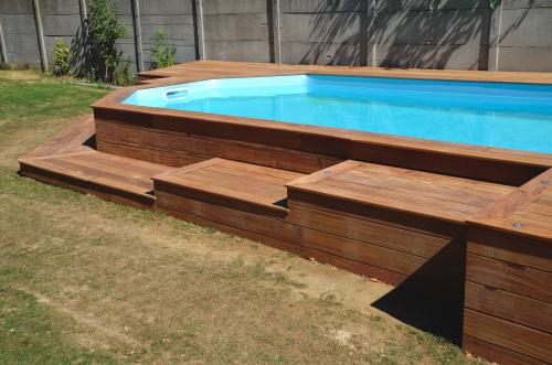 Terrasse sur pilotis autour piscine hors sol Nos Conseils