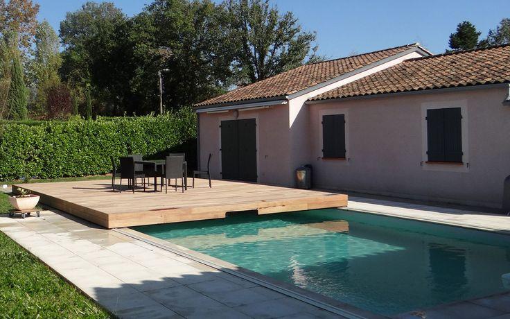 couverture piscine coulissant Terrasse coulissante pour
