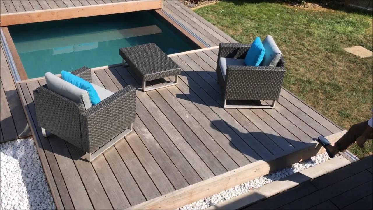 Terrasse mobile de piscine un Rolling Deck en 2 parties