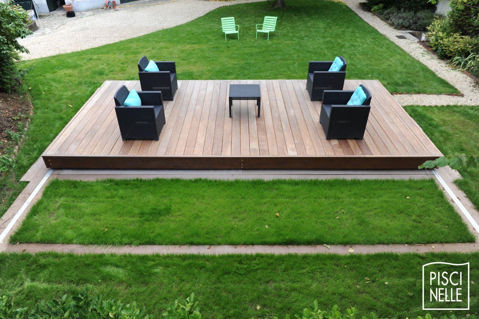 Une terrasse coulissante de piscine Rolling Deck Piscinelle