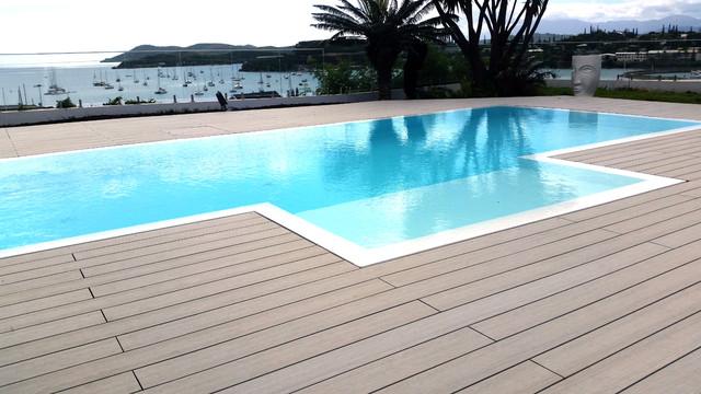 Terrasse posite Ocewood Optima Plus Basalte Bord de
