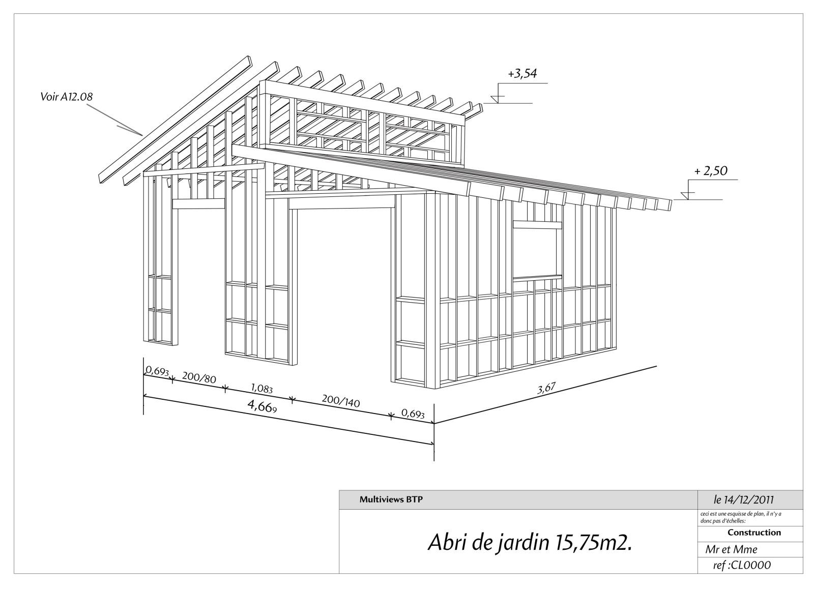 Plan cabane de jardin Cabanes and co