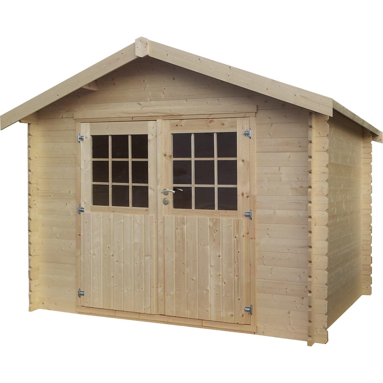 Plan Abri De Jardin En Bois plan abri de jardin plan cabane en bois leroy merlin - idees