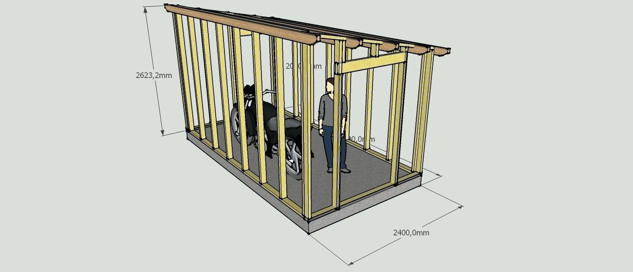 plan cabane de jardin – maison et chaise