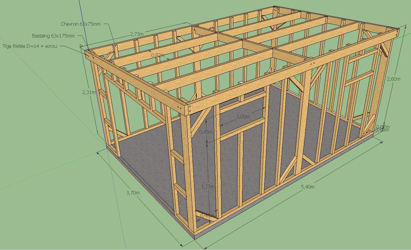 Plan d abri de jardin en bois gratuit Cabanes abri jardin