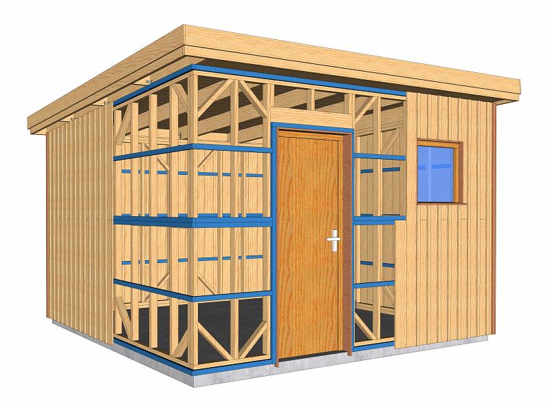Plans à ossature bois pour autoconstruction abri de jardin