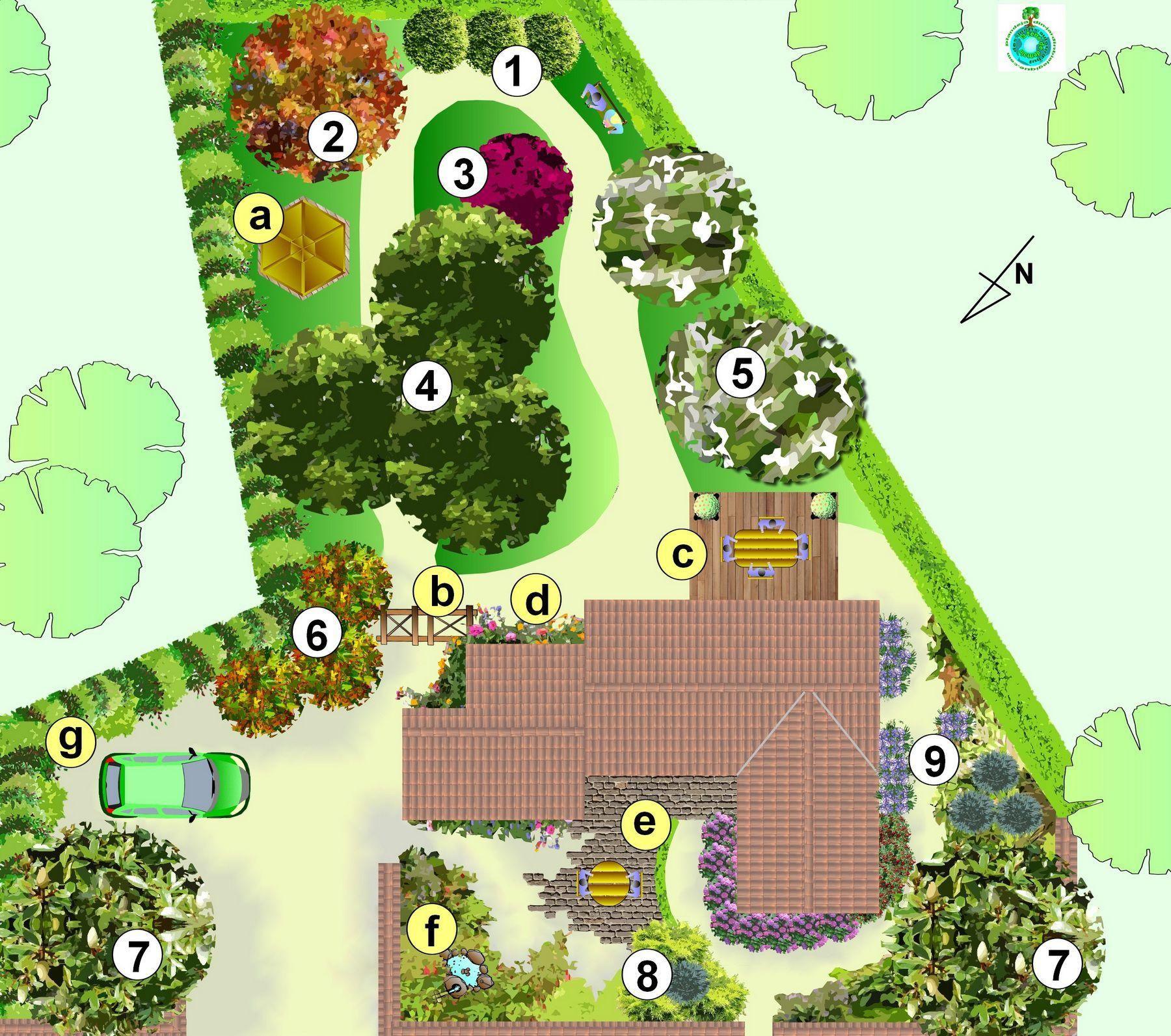 Créer un jardin avec des grands arbres plan d