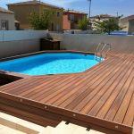 Plancher Bois Exterieur Aménagement De Terrasse De Piscine Hors sol En Posite