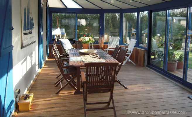 véranda et plancher terrasse bois exotique intérieur et