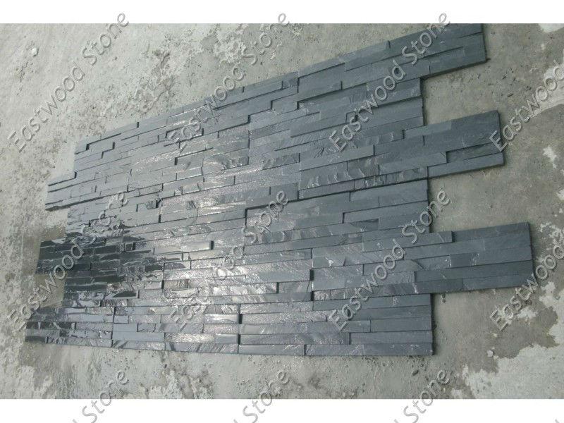 Plaquette de parement mural en ardoise noire Ardoise ID de