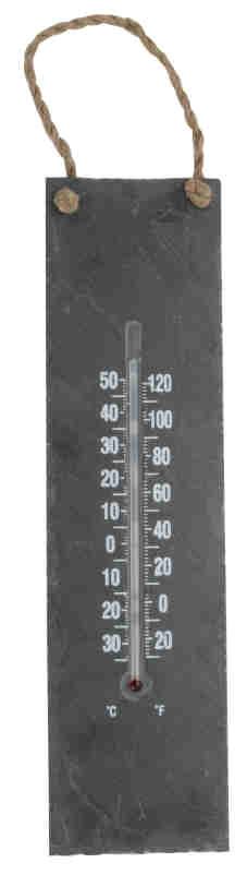 Thermometre d exterieur sur plaque en ardoise