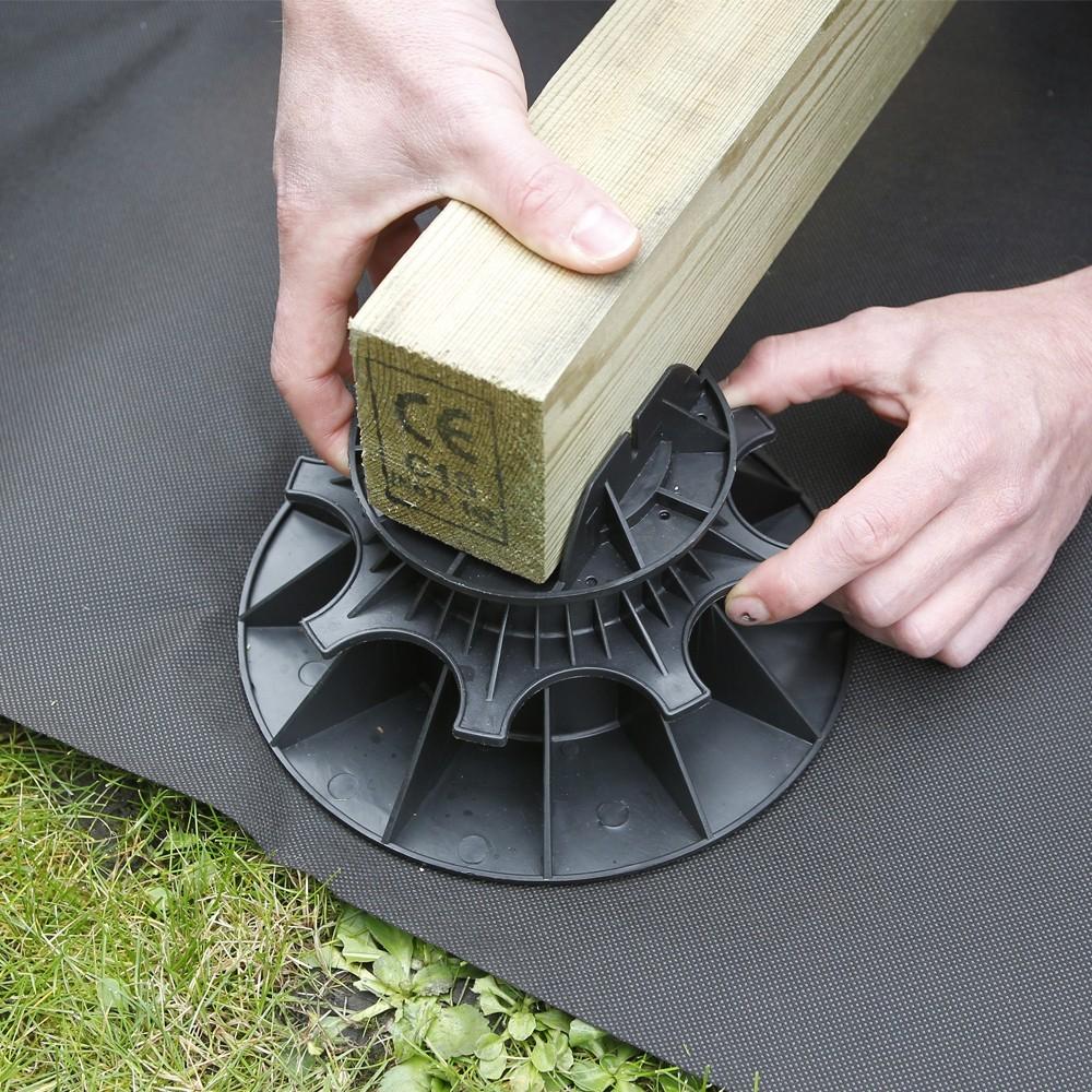 Plot pour terrasse NIVO H40 60mm Plot pour lambourdes