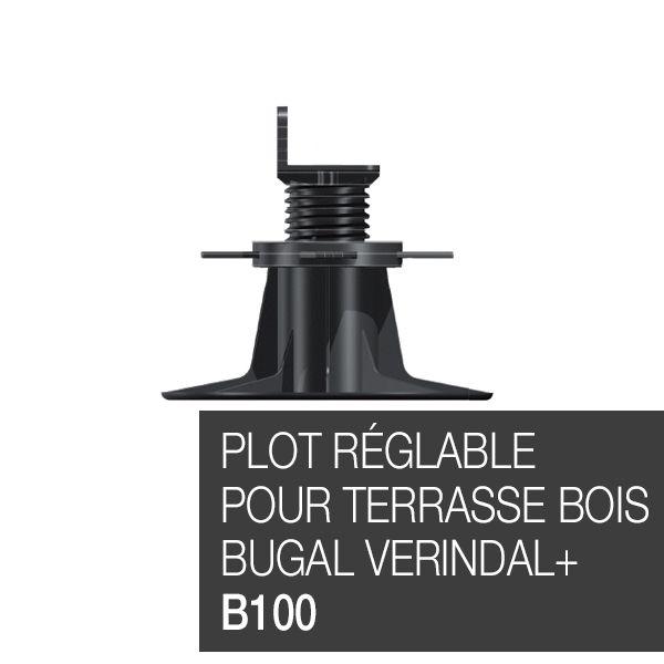 Plot réglable pour terrasse bois Bugal Verindal B100